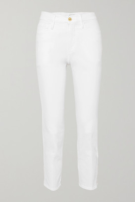 Frame Le Sylvie Cropped High-rise Straight-leg Jeans - White