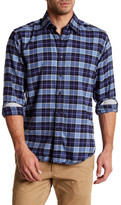 James Campbell Eclipse Tonal Plaid Regular Fit Shirt