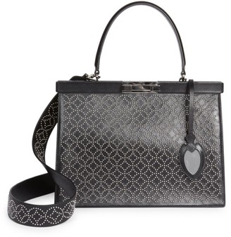 Alaia Medium Cecile Arabesque Studded Leather Satchel
