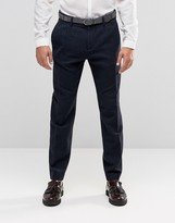 Sisley Wool Blend Slim Fit Cropped Suit Trousers