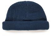 Topman Men's Rib Knit Cap - Blue