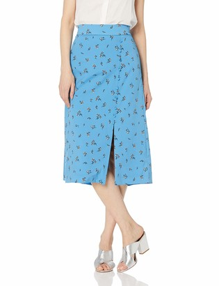 Kensie Women's Forget Me Not Floral Skirt