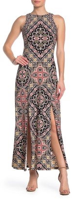 London Times Mandala Sleeveless Maxi Dress