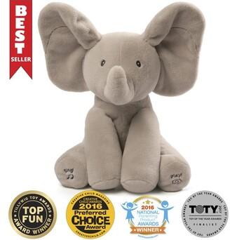 "Gund Baby Animated Flappy the Elephant Stuffed Animal Plush Gray 12"""