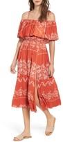 Tularosa Women's Jacqui Floral Print Cold Shoulder Dress
