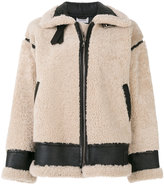 P.A.R.O.S.H. oversized shearling jacket