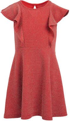 Epic Threads Toddler Girls Metallic-Knit Flutter Dress