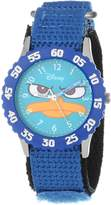 Disney Kids' W000157 Agent P Stainless Steel Time Teacher Watch