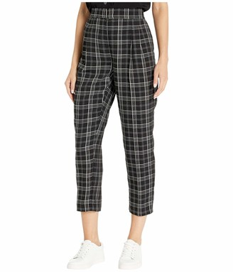 Vince Camuto Women's Slim Leg Front Pleat Even Plaid Pant