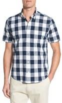 Tailor Vintage Men's Regular Fit Short Sleeve Check Sport Shirt