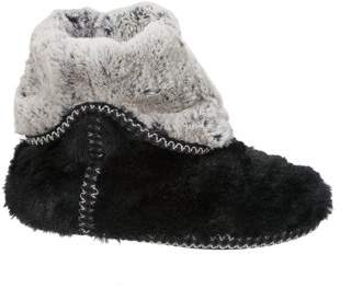 Dearfoams Women's Faux Fur Foldown Boot Slippers