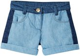 Little Marc Jacobs Denim Shorts (Toddler/Kid) - Blue-3A
