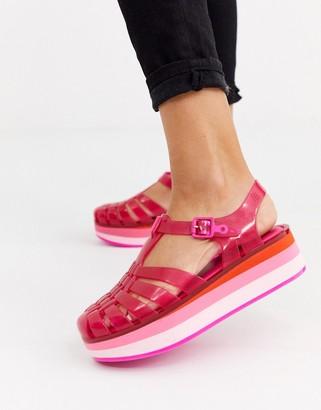 Melissa flatform jelly sandal in pink