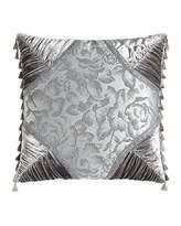 "Sweet Dreams Platinum Posey Pieced Pillow, 20""Sq."