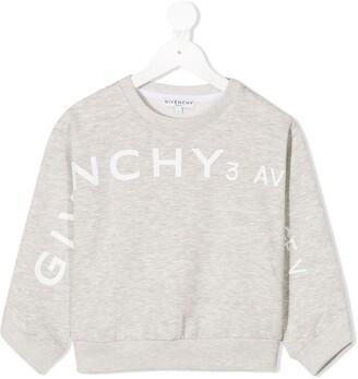 Givenchy Kids Logo Print Crewneck Sweatshirt