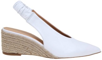 Paloma Barceló slingback In White Nappa Leather