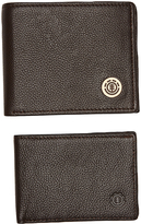 Element Icon Leather Wallet Brown
