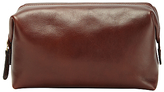 John Lewis Made In Italy Leather Wash Bag, Brown