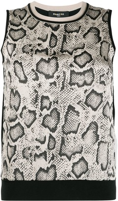 Paule Ka Animal-Print Silk Blouse