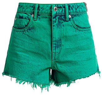Alexander Wang Bite Side-Zip Acid Wash Shorts