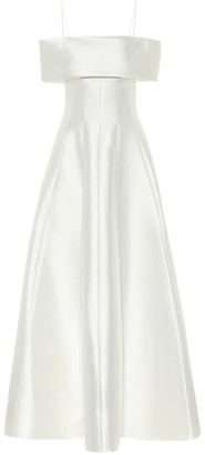 Rasario Exclusive to Mytheresa - Off-shoulder satin gown