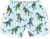 MC2 Saint Barth T-Rex Print Nylon Swim Shorts