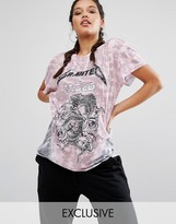 Jaded London X Granted Rock T-Shirt In Tie Dye