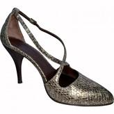 Michel Vivien Ecru Water snake Heels