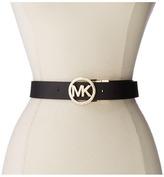 MICHAEL Michael Kors 38mm Belt w/ MK Logo Reversible Buckle