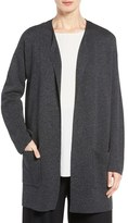 Eileen Fisher Women's Tencel & Merino Wool Long Cardigan