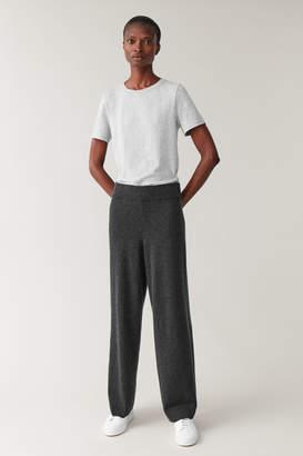 Cos WIDE LEG CASHMERE PANTS