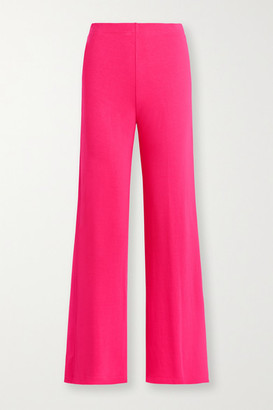 Leset Strech-terry Wide-leg Pants - Bright pink