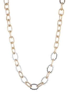 Alexis Bittar Modern Georgian Crystal Encrusted Mesh Chain Link Necklace, 16