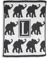 Butterscotch Blankees Personalized Walking Elephants Cashmere Blanket
