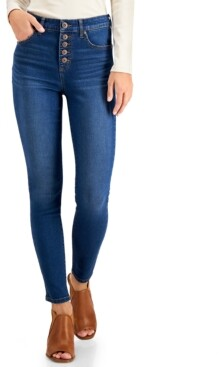 Style&Co. Style & Co Button-Fly High Rise Skinny Ankle Jeans, Created for Macy's