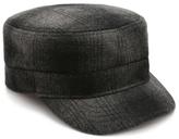 Aston Grey Plaid Military Hat