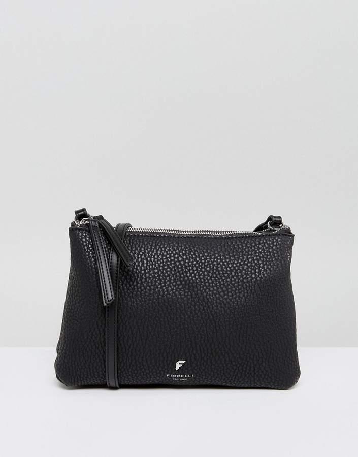 Fiorelli Simple Zip Top Cross Body Bag in Black
