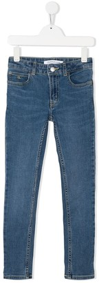 Calvin Klein Kids high-rise skinny jeans