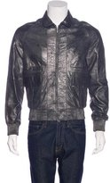 Karl Lagerfeld Metallic Leather Jacket w/ Tags