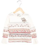 Kenzo Girls' Knit-Accented Printed Top