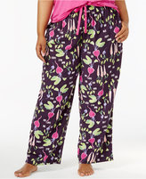 Hue Plus Size Salad Days Printed Pajama Pants