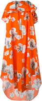 MSGM floral print strapless dress - women - Cotton - 38