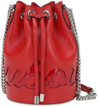 Christian Louboutin Mary Jane Logo Leather Bucket Bag