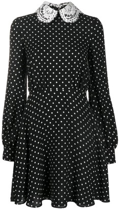 Valentino Lace Collar Polka Dot Dress