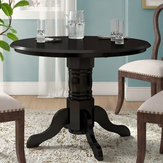 Beachcrest Home Langwater Dining Table Color: Black
