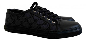 Gucci Navy Cloth Trainers