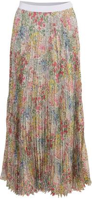 Giambattista Valli Plisse Floral Maxi Skirt