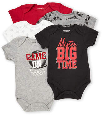 Rene Rofe Newborn/Infant Boys) 5-Pack Mister Big Time Bodysuits