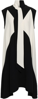 Givenchy Two-tone Tie-neck Cady Dress