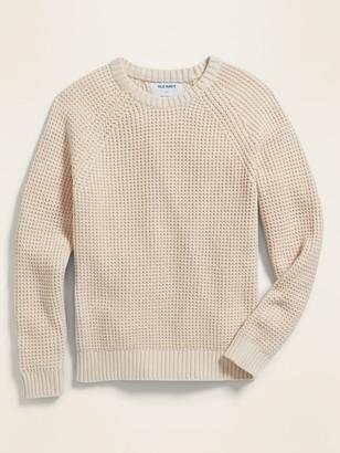 Old Navy Textured Raglan-Sleeve Crew-Neck Sweater for Boys